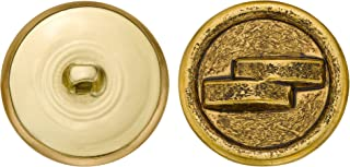 product image for C&C Metal Products 5136 Double Halo Metal Button, Size 45 Ligne, Antique Gold, 36-Pack
