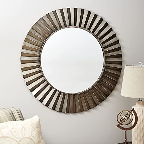 Household Essentials Round Decorative Sunburst Wall Mirror