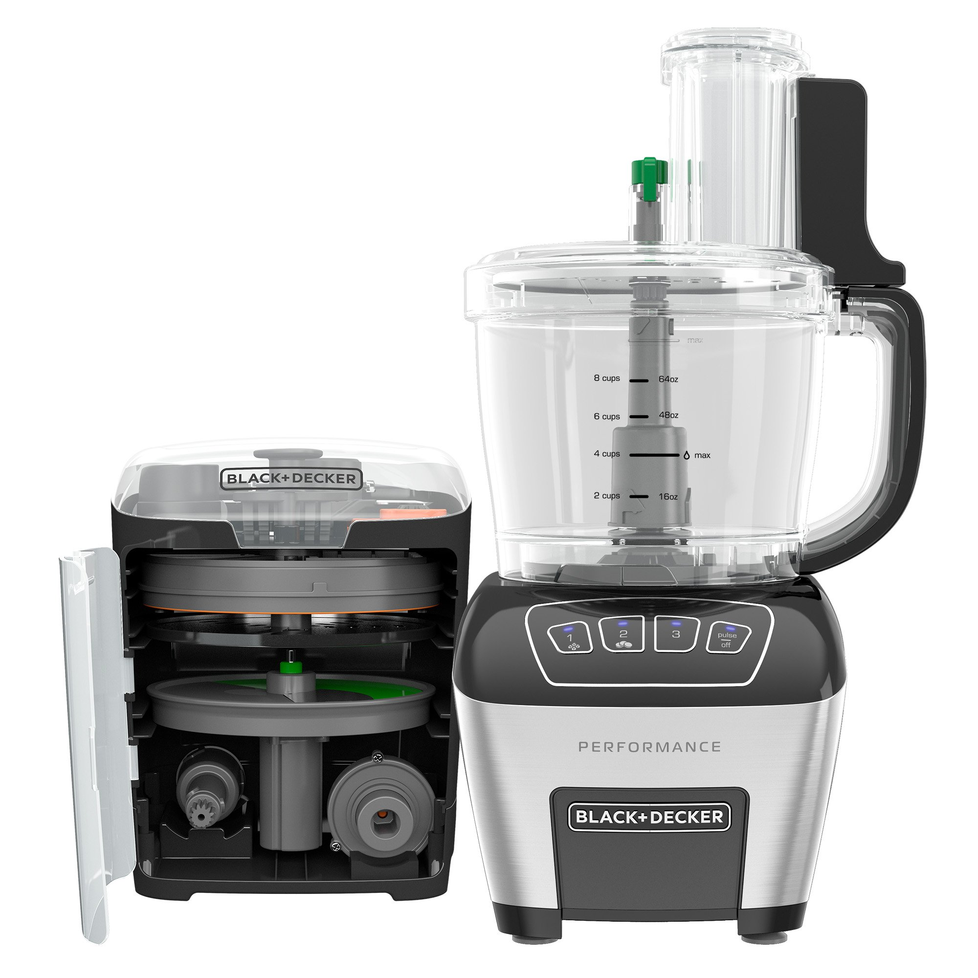BLACK+DECKER FP6010 Performance Dicing Food Processor Digital Control, Food Processor, Stainless Steel