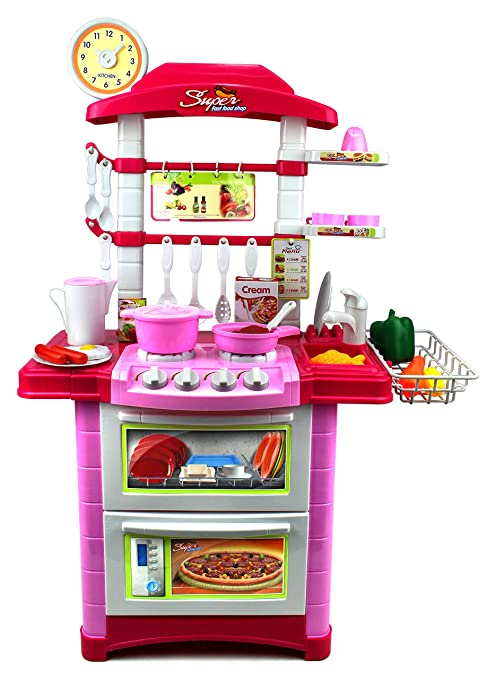 Genial Super Deluxe Food Shop Pretend Play Childrenu0027s Toy Kitchen Cooking Playset  W/ Toy Food,