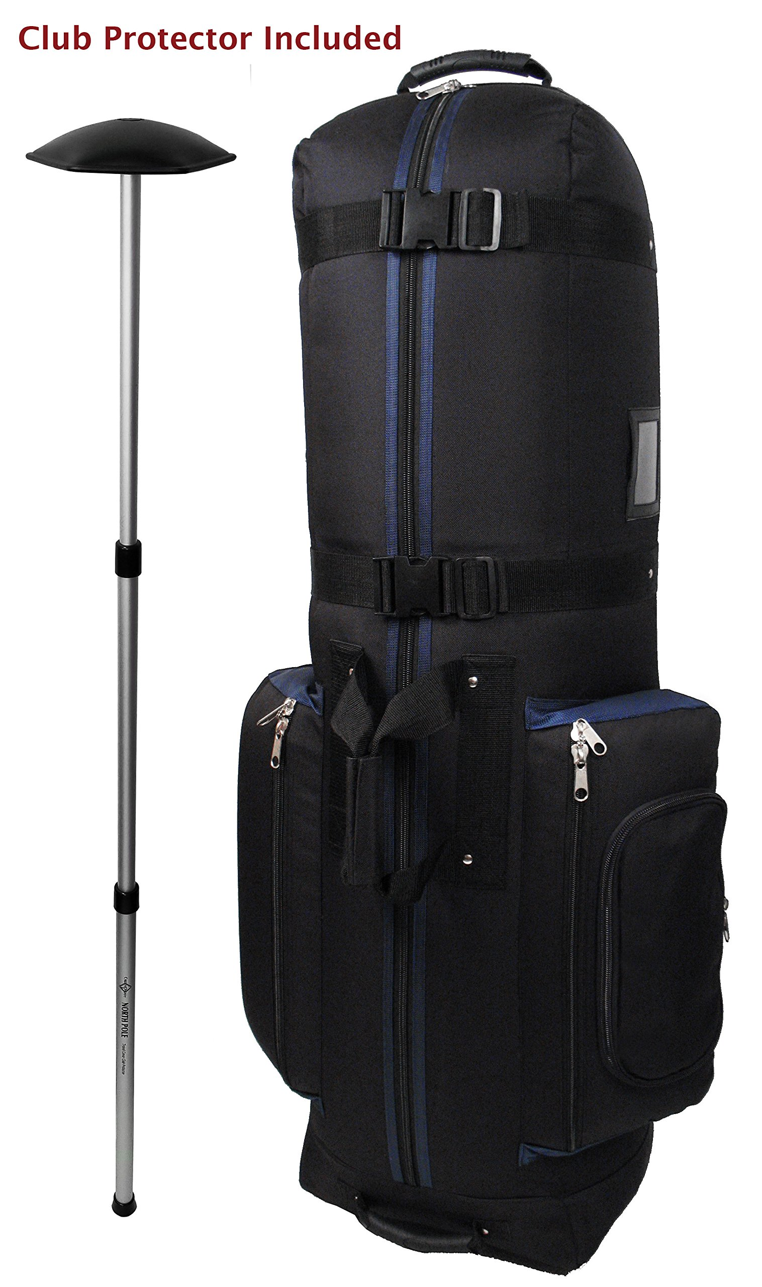 CaddyDaddy Golf CDYCON2NP Constrictor with North Pole Club Protector Golf Bag Travel Cover, Black/Navy by CaddyDaddy