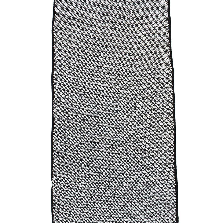 【正絹総絞り小紋反物】【黒地系】未仕立て 手絞り 着尺 着物【お仕立て承ります】 B076BPZVGL
