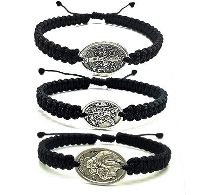 Amazon com: MedjugorjeStoneGifts Handmade Religious Bracelets with