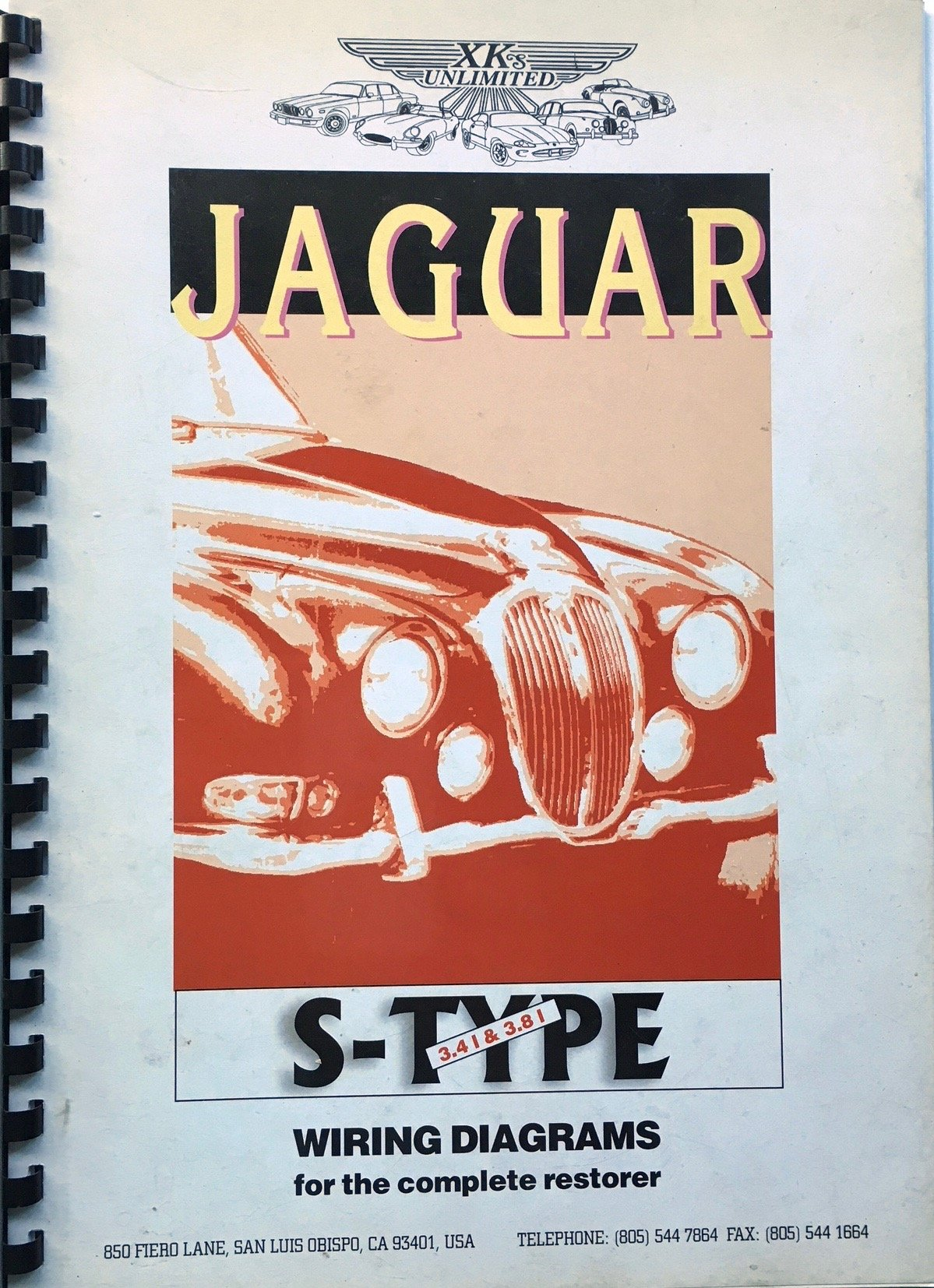 Jaguar S-Type 3.4 & 3.8 Litre Saloons 1963-1968, Wiring ... on
