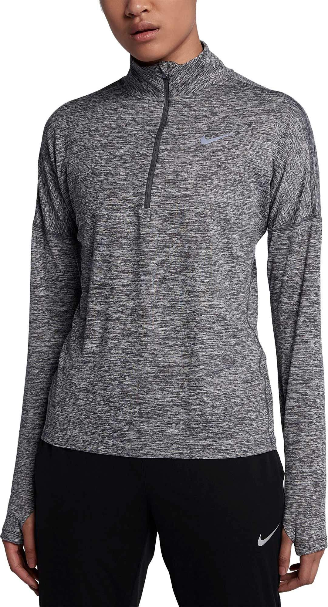 Nike Women's Dry Element Half Zip Top (X-Small, Dark Grey/HTR) by Nike (Image #1)