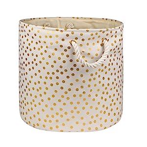 """DII CAMZ10370 Polyester Storage Bins 15x16x16"""" Dots"""