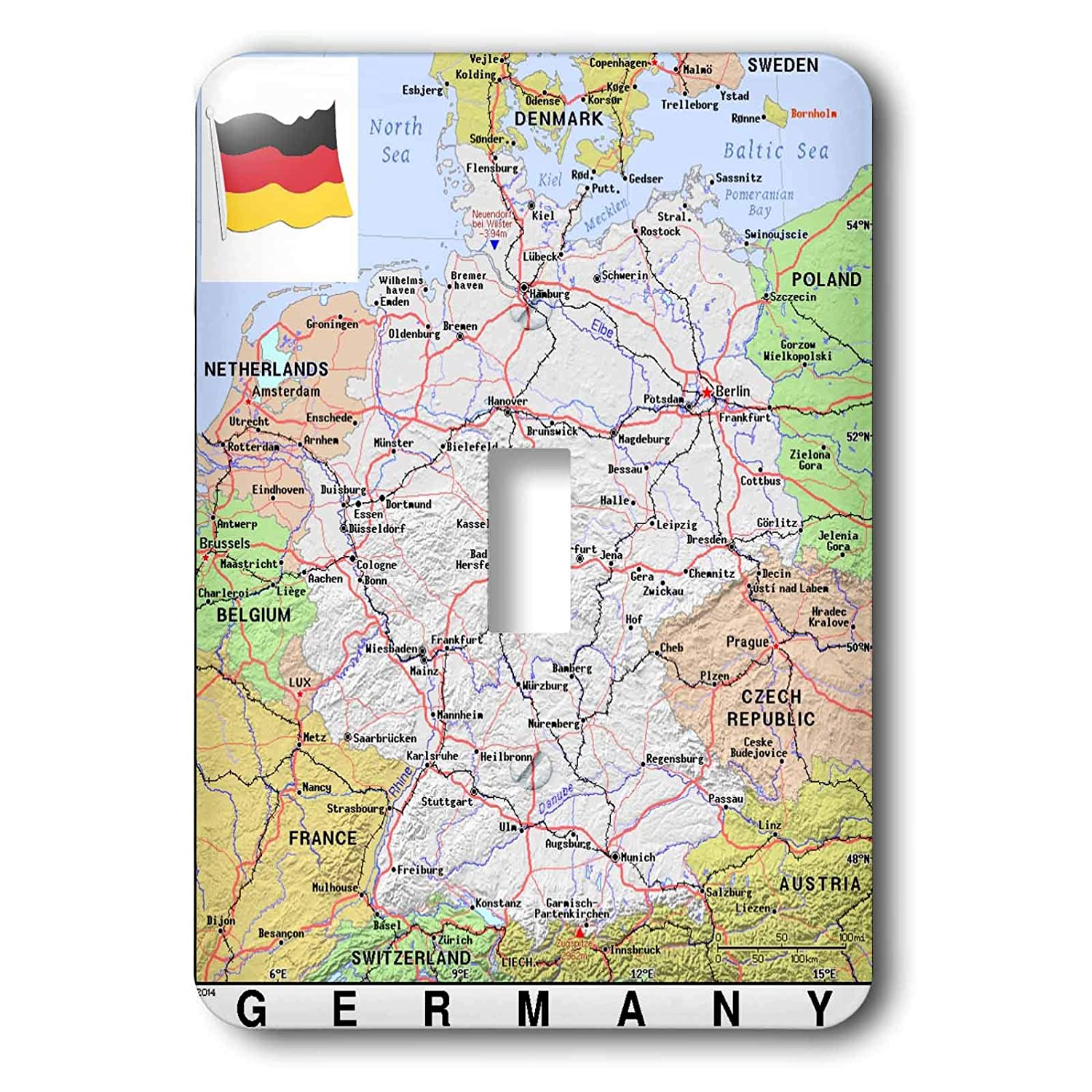 Map Of Germany Showing Cities.3drose Lens Art By Florene Topo Maps With Flags Image Of Map Of