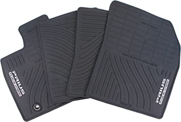 2 X CLIP RUBBER FLOOR MATS HEAVY DUTY HD 4P UP TO 13 TOYOTA AURIS
