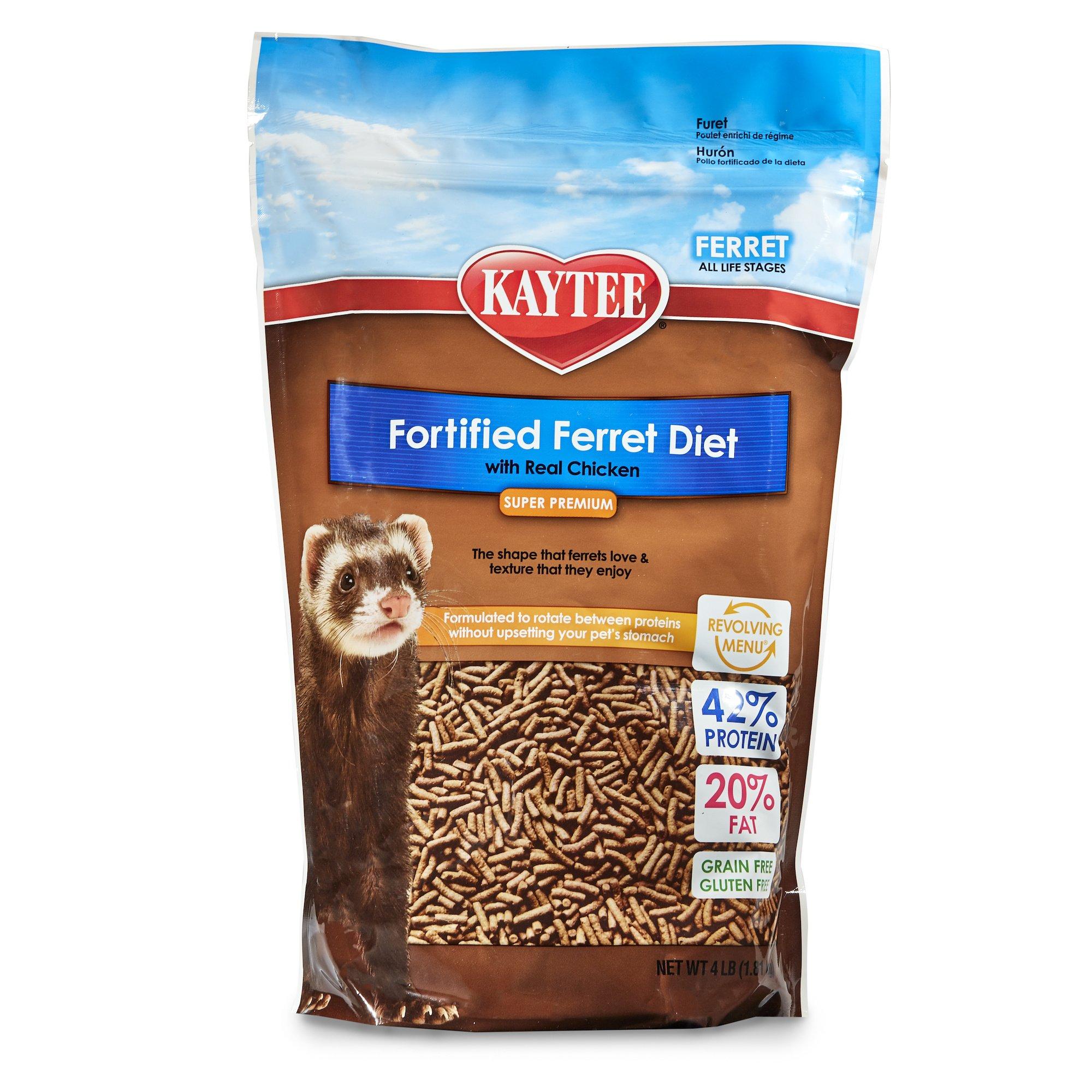 Kaytee Premium Ferret Food with Chicken, 4-Ib