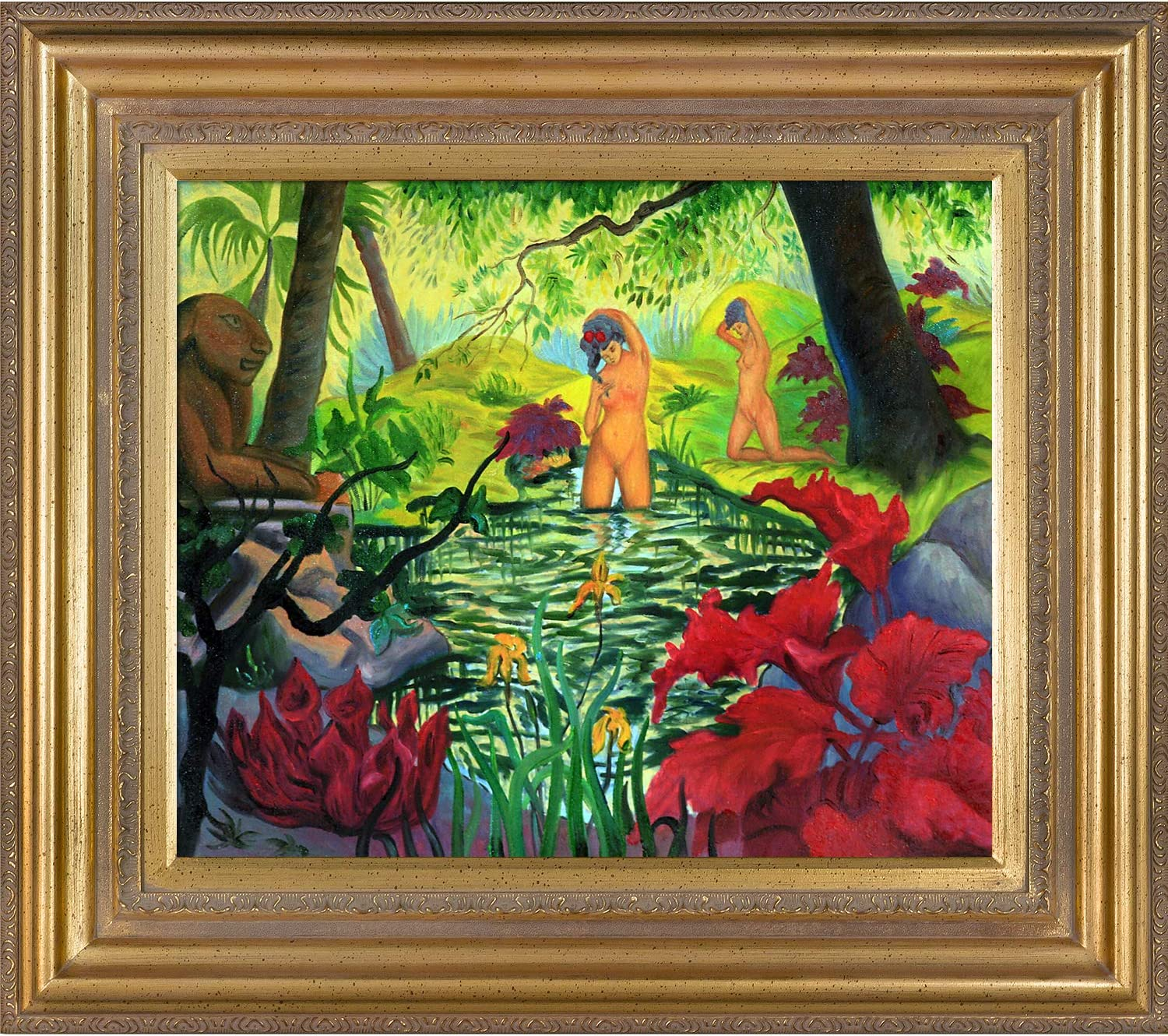 overstockArt The Blue Room-Framed Oil Reproduction of an Original Painting by Paul-Elie Ranson