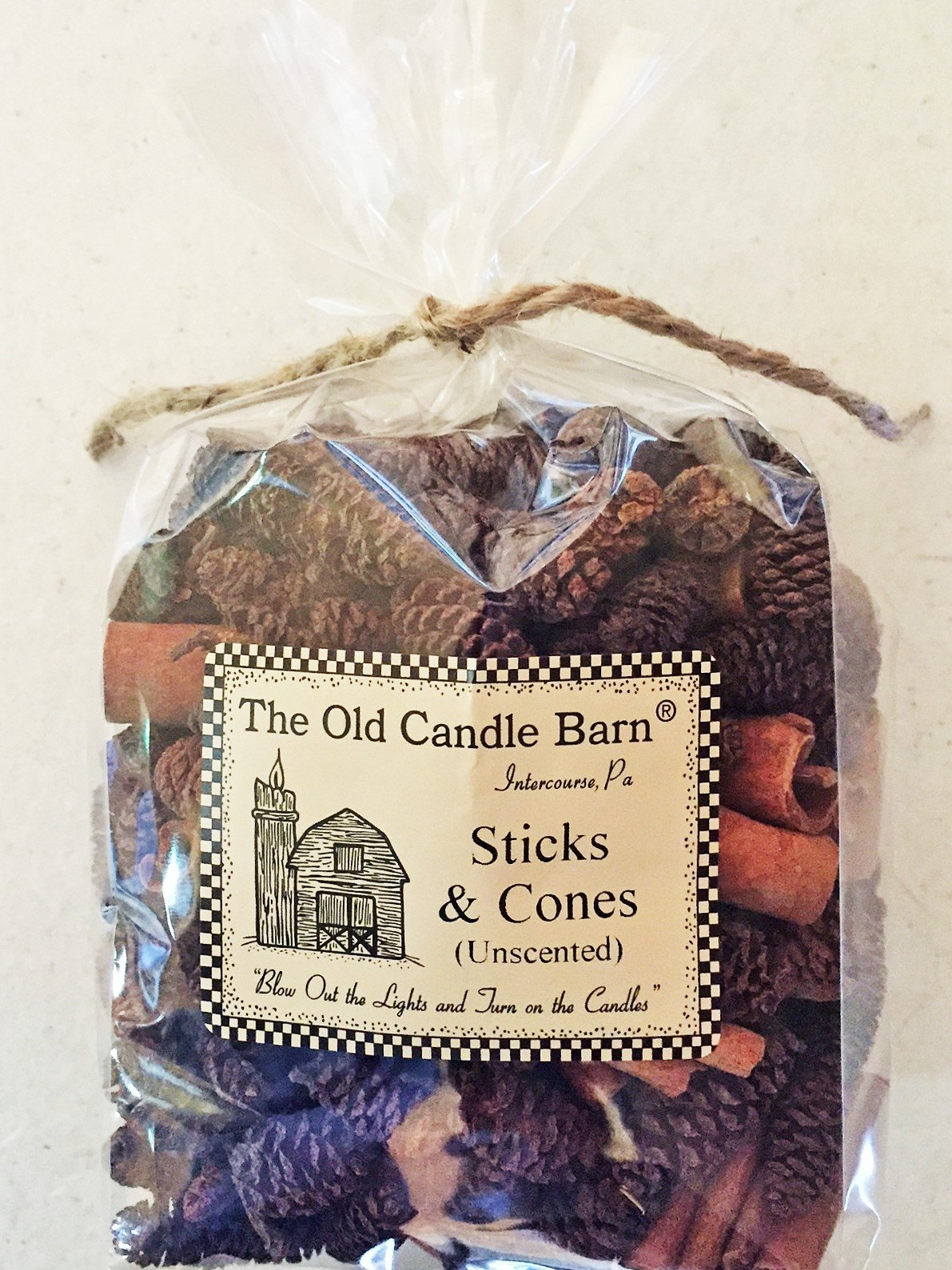 Old Candle Barn Sticks & Cones - 4 Cup Bag of Mini Pine Cones with Small Cinnamon Sticks - Unscented for Decoration Or Homemade Potpourri - Made in USA by Old Candle Barn (Image #1)