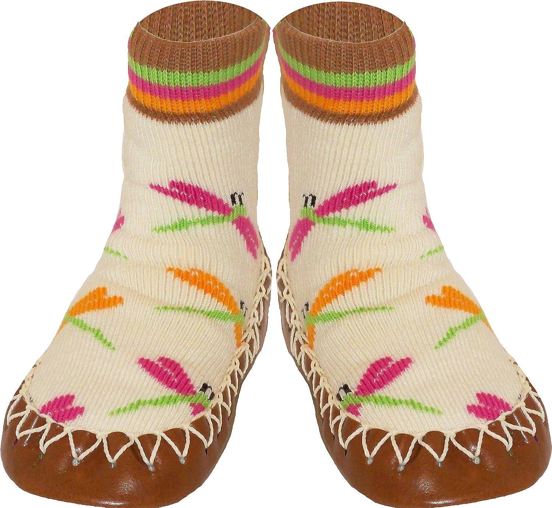 Pantuflas suecas - Diseño Infantil de Flores Silvestres - Zapatillas de Estar por casa para bebés, niños y jóvenes: Amazon.es: Zapatos y complementos