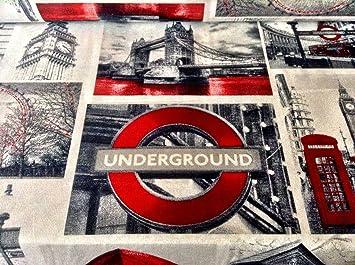 Homebuy London Design Rideau D Ameublement Tissu De Coton Materiau 140 Cm De Large London Toile Au Metre