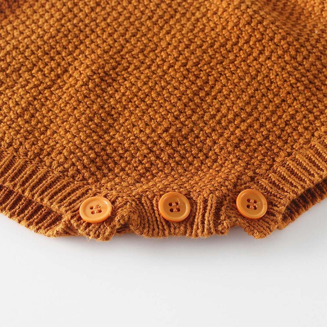 BeautyTop Kleinkind Neugeborenen M/ädchen Baby Gestrickten Pullover Winter Warme Prinzessin Strampler Overall Kleidung Outfit