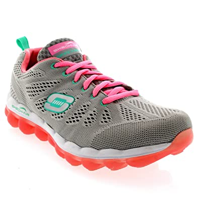 2830cff9e373 Skechers Womens Flex Appeal Spring Fever Hot Pink Memory Foam Trainers -  Hot Pink Lime