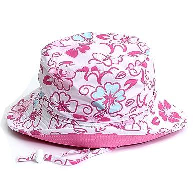 ca5e04b406a6f0 Amazon | (サングローブ) Sunglobe UVカット 帽子(子供用) - キッズ ハット- マクロファイバー スイムハット  カラー:ホットピンクハイビスカス、ピンクハイビスカス ...