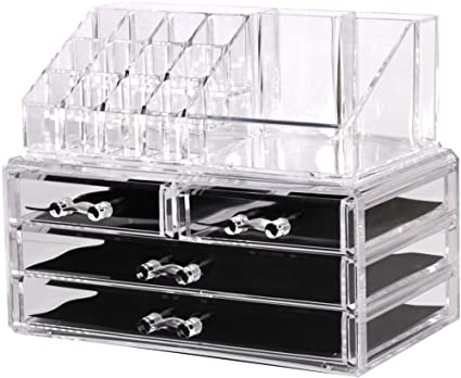 Acrylic Jewelry Cosmetic Organizer Storage Display Boxes Two