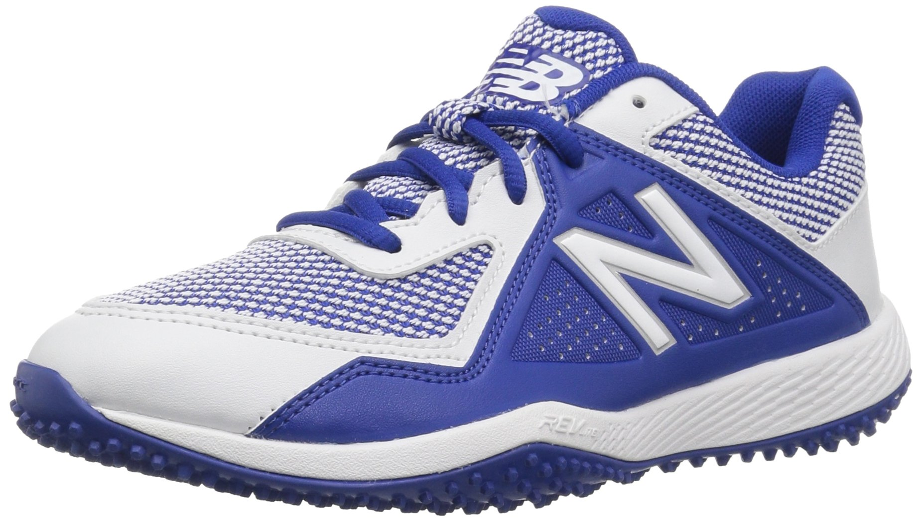 New Balance Boys' TY4040 Turf Baseball Shoe, Royal/White, 2.5 M US Little Kid