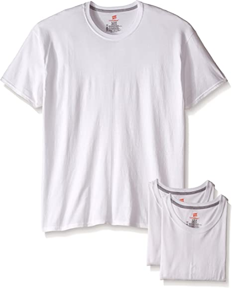 Hanes Mens 3-Pack Comfort Blend White Crew
