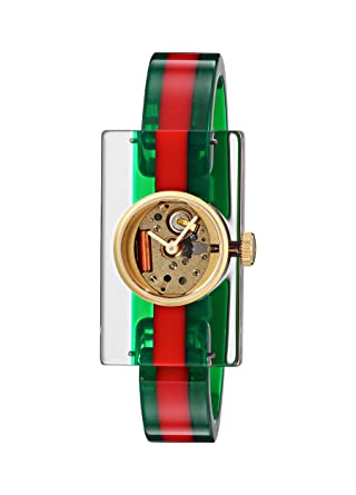 6bfb3aeae2e Amazon.com  Gucci Quartz Gold and Plastic Casual Two Tone Women s Watch(Model   YA143501)  Gucci  Watches