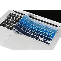 Lenfech Cubre Teclado para MacBook 2012 - 2015 Pro 13 y 15, Air 13/ Retina 15 y Mac Book 2010 - 2017 Air 13. Protector de Teclado en Español de Silicón / Silicona. Protege de Líquidos, Suciedad, Comida y Polvo! Disponible en 13 Colores. (Azul Degradado)