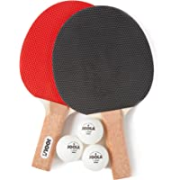 JOOLA 59164 Essentials Series Duel 2-Player Table Tennis Racket Set with Rackets and Balls