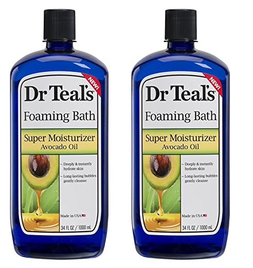 Dr. Teal's Ultra Moisturizing Foaming Bath with Avocado Oil,34 FL OZ (2 Pack-68 FL OZ)