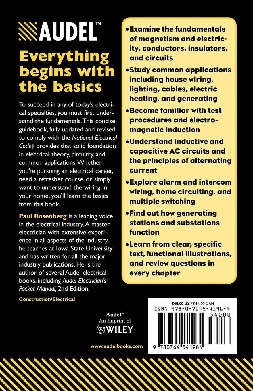 Audel Practical Electricity All New 5th Edition Paul Rosenberg Wiring Specialties Coupon Code 9780764541964 Books