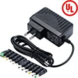 Geeon 18W Universal AC Adapter 12V DC 1.5A Regulated Switching Power Supply with 12 Replacement Tips UL Listed (ONLY for 12-Volt)