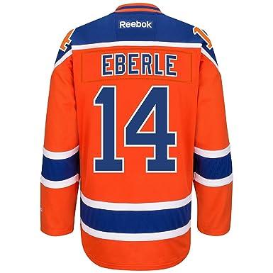 bcddd6bc126 Jordan Eberle Edmonton Oilers #14 Orange Youth NHL Reebok Premier Alternate  Jersey (Youth Large