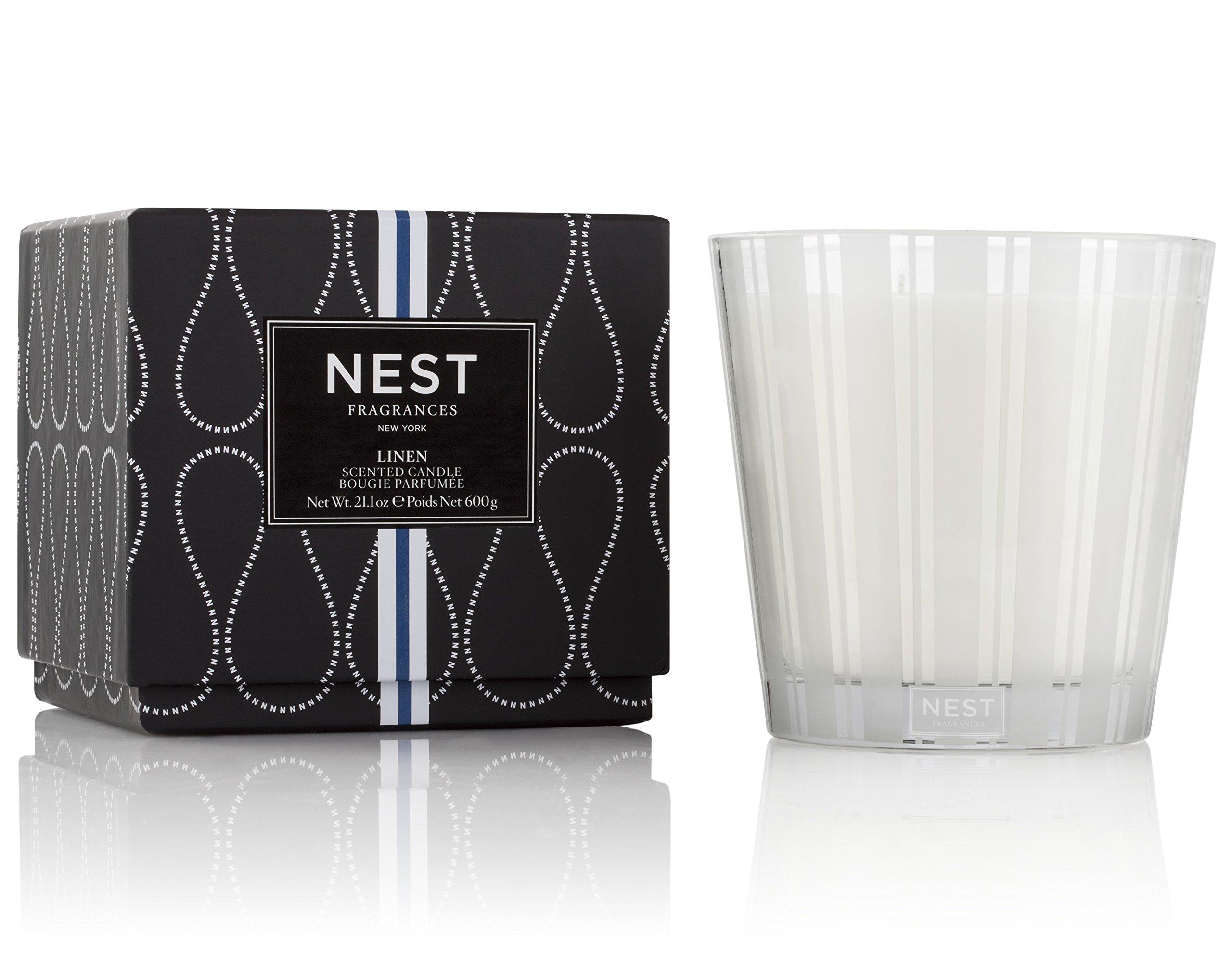 NEST Fragrances 3-Wick Candle-Linen, 21.2 oz