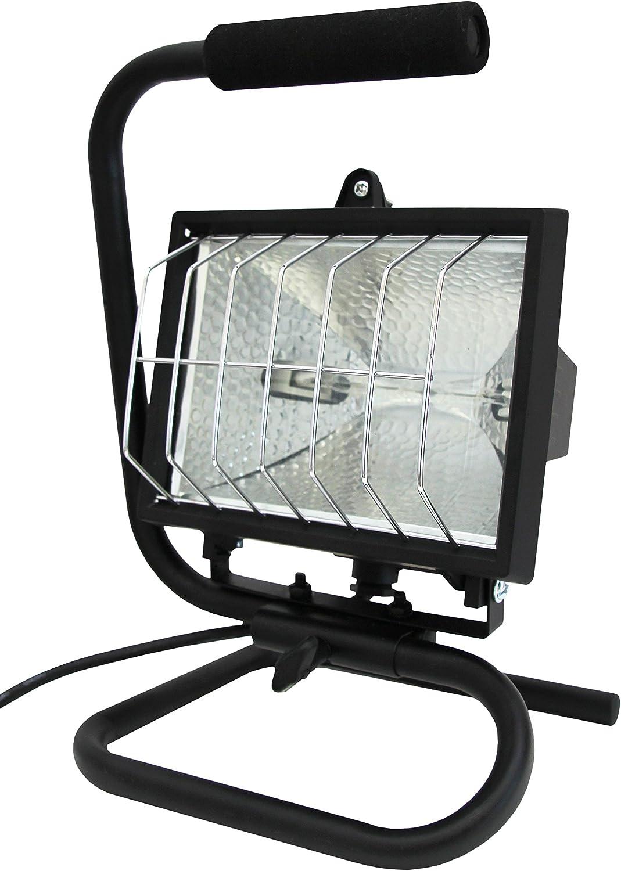 Electraline 63008 - Proyector halógeno portátil con soporte de pie ...