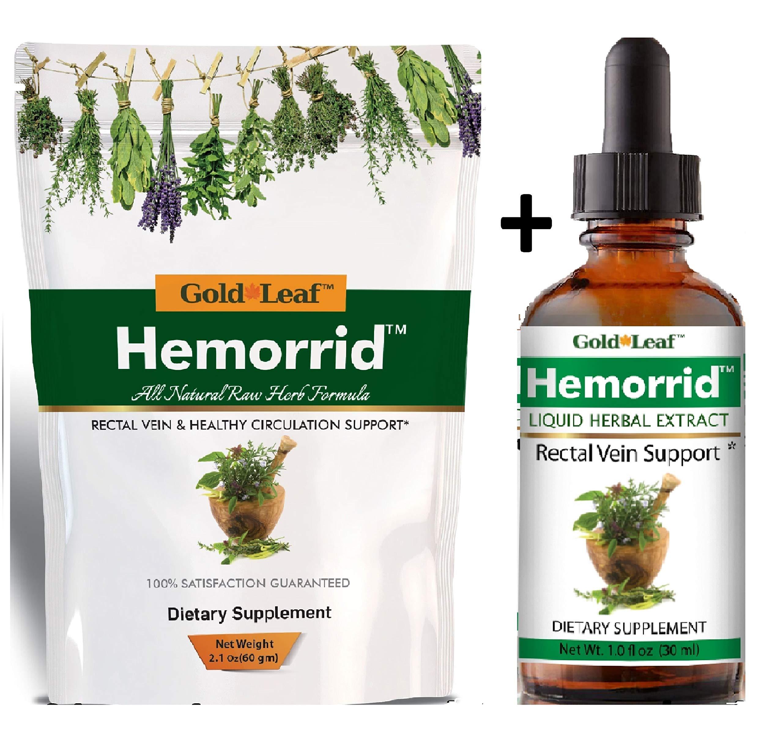 Hemorrhoid Treatment # 1 Fast Relief Formula for Hemorrhoids, Pain, itching, Bleeding, Non-Bleeding, fissures, Internal & External Hemorrhoids. by Gold Leaf Herbs