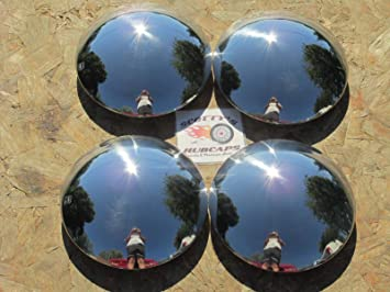 Baby Moon Chrome Hubcap for Smooth Steel Wheels 4 Pack