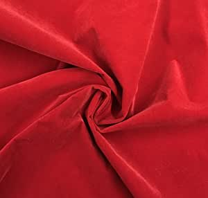 Nylon Velvet Bright RED Fabric by The Yard
