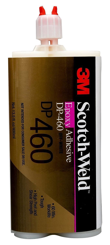 3M Scotch-Weld 87831 Epoxy Adhesive DP460, 400 mL, Off White