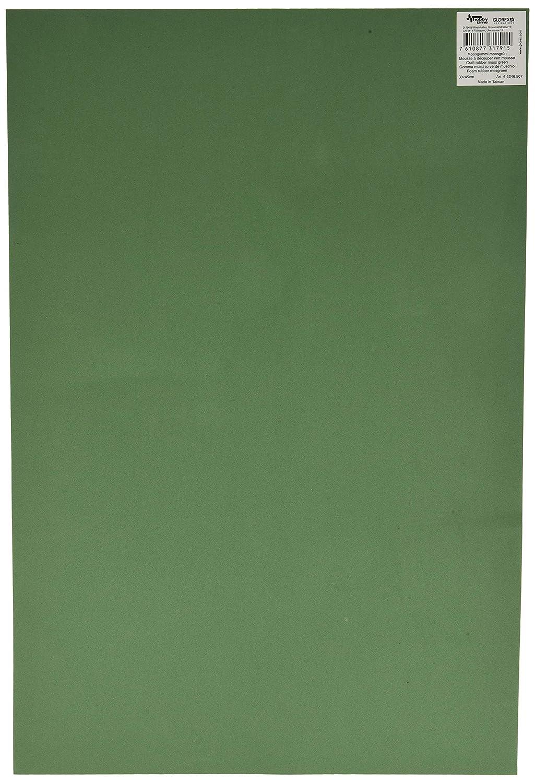 GLOREX Musgo Goma 2/mm mehreres Verde Musgo 40/x 30/x 0.2/cm