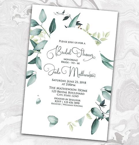 Wedding Shower Invites.Amazon Com Bridal Shower Invitation Wedding Shower Oval Invite