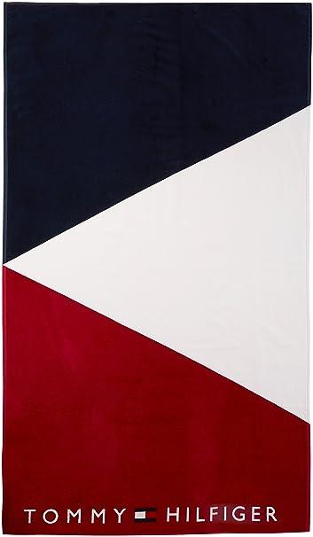 Tommy Hilfiger Towel, Bañador para Hombre, Multicolor (Navy Blazer/White/Tango