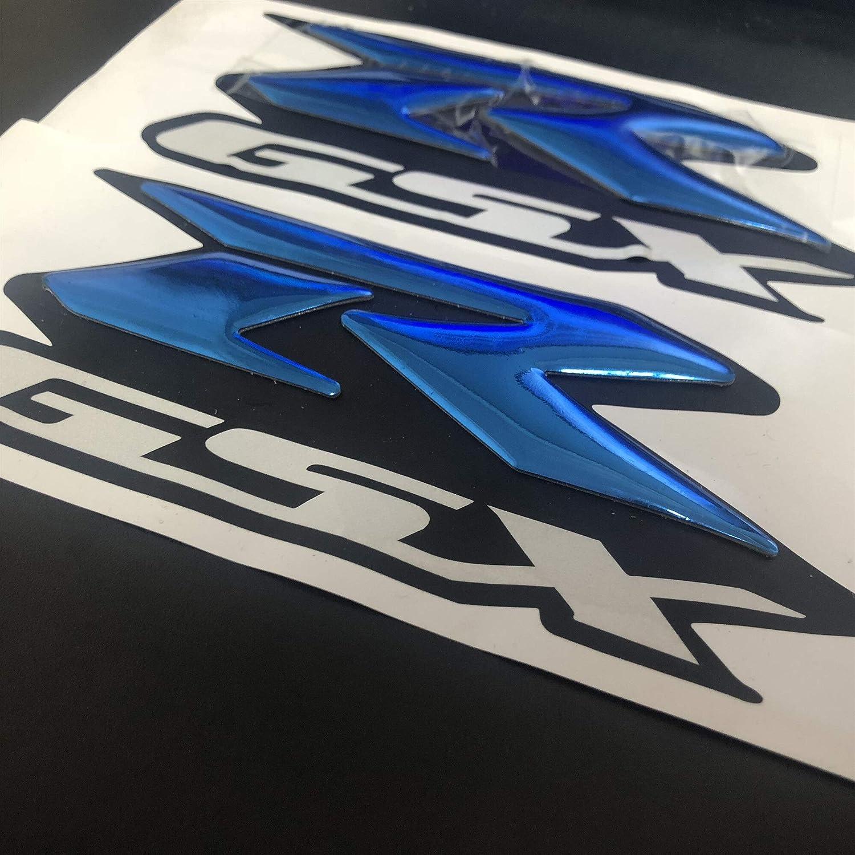 2st Blau Emblem 3d Fender Behälter Logo Decal Aufkleber For Suzuki Gsxr 600 750 1000 K1 2 3 4 5 6 7 8 9 Motorrad Cruisers Chopper Color Red Auto