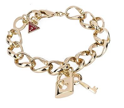 bf1611bd38cc Guess UBB81048 - Bracelet Femme - Métal doré - Strass - 18 cm ...