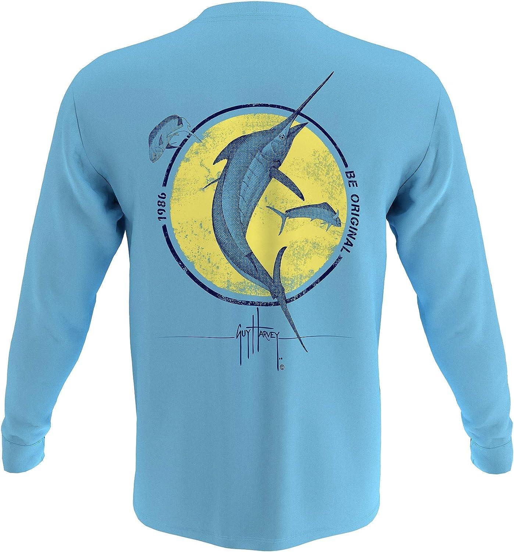 Guy Harvey Men's Billfish Collection Long Sleeve Pocket T-Shirt