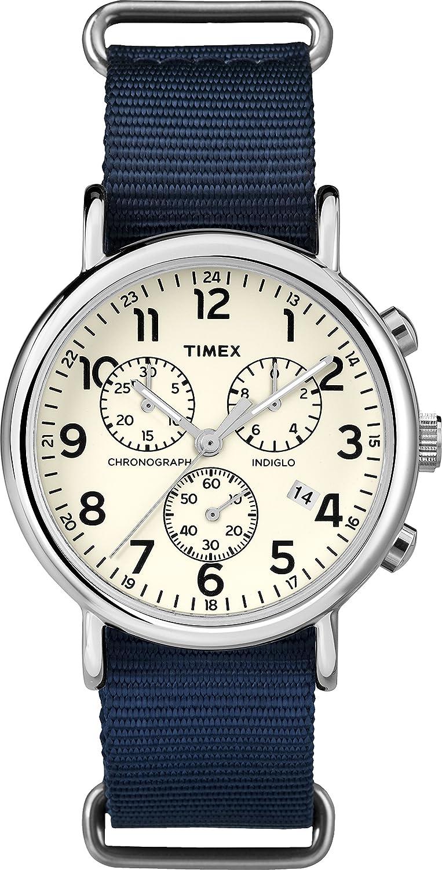Timex Reloj Analógico para Hombre de Cuarzo con Correa en Nailon TWC063800