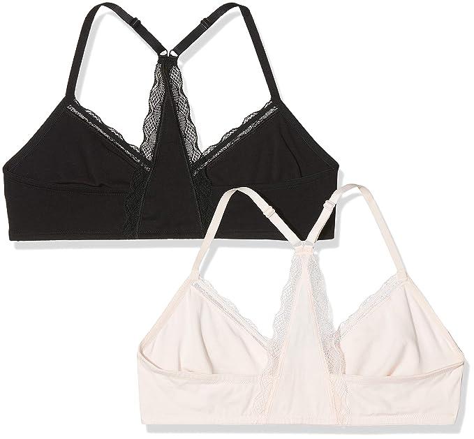 Underwear Sujetador para Mujer, Pack de 2, Multicolor (Soft Pink/Black), X-Large: Amazon.es: Ropa y accesorios