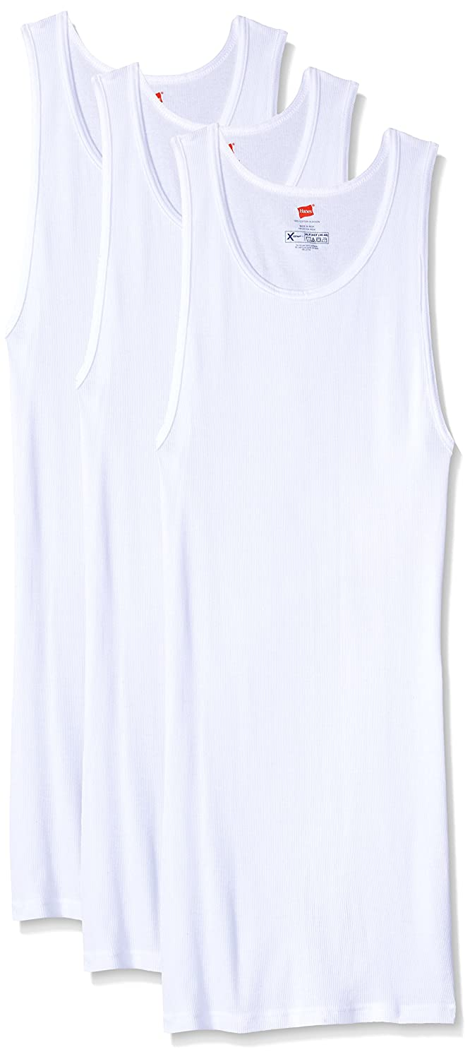 Hanes Men's Size 3-Pack X-Temp Tall A-Shirt Hanes Men's Basic Bottoms 018HNXT