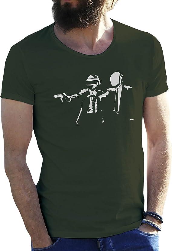Friendly Bees Daft Punk Rap Electro Group Verde Militar Camiseta para Hombre 3X Large: Amazon.es: Libros