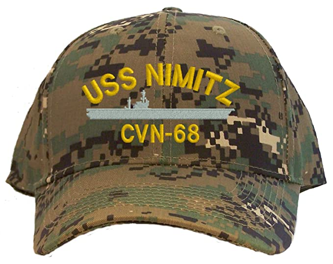 a01899f7868 Image Unavailable. Image not available for. Color  USS Nimitz CVN-68  Embroidered Baseball Cap ...