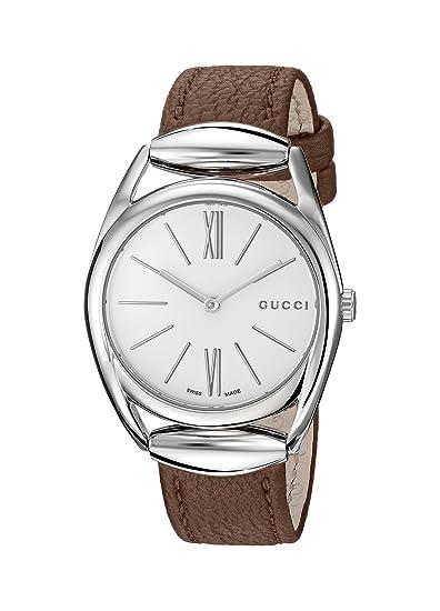 Gucci YA140401 - Reloj de pulsera Mujer, color Marrón: Amazon.es: Relojes