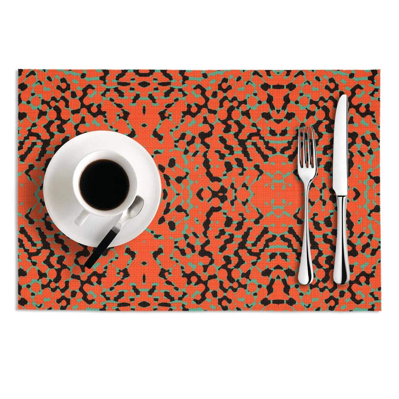 16 x 180 KESS InHouse Nandita Singh Pink Waves Orange Yellow Table Runner