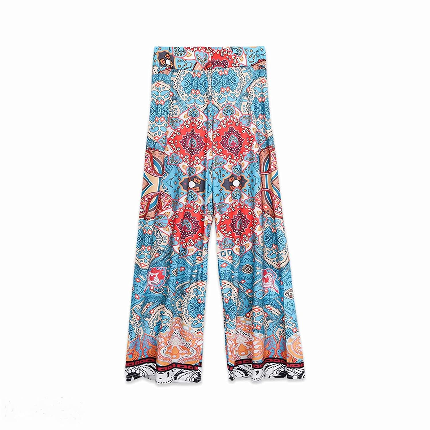 Gaono Fashion Summer Mom Kids Girl Flower Print Casual Pants Family Trousers